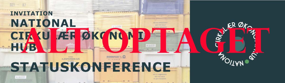 Kom Til Statuskonference På National Cirkulær Økonomi HUB
