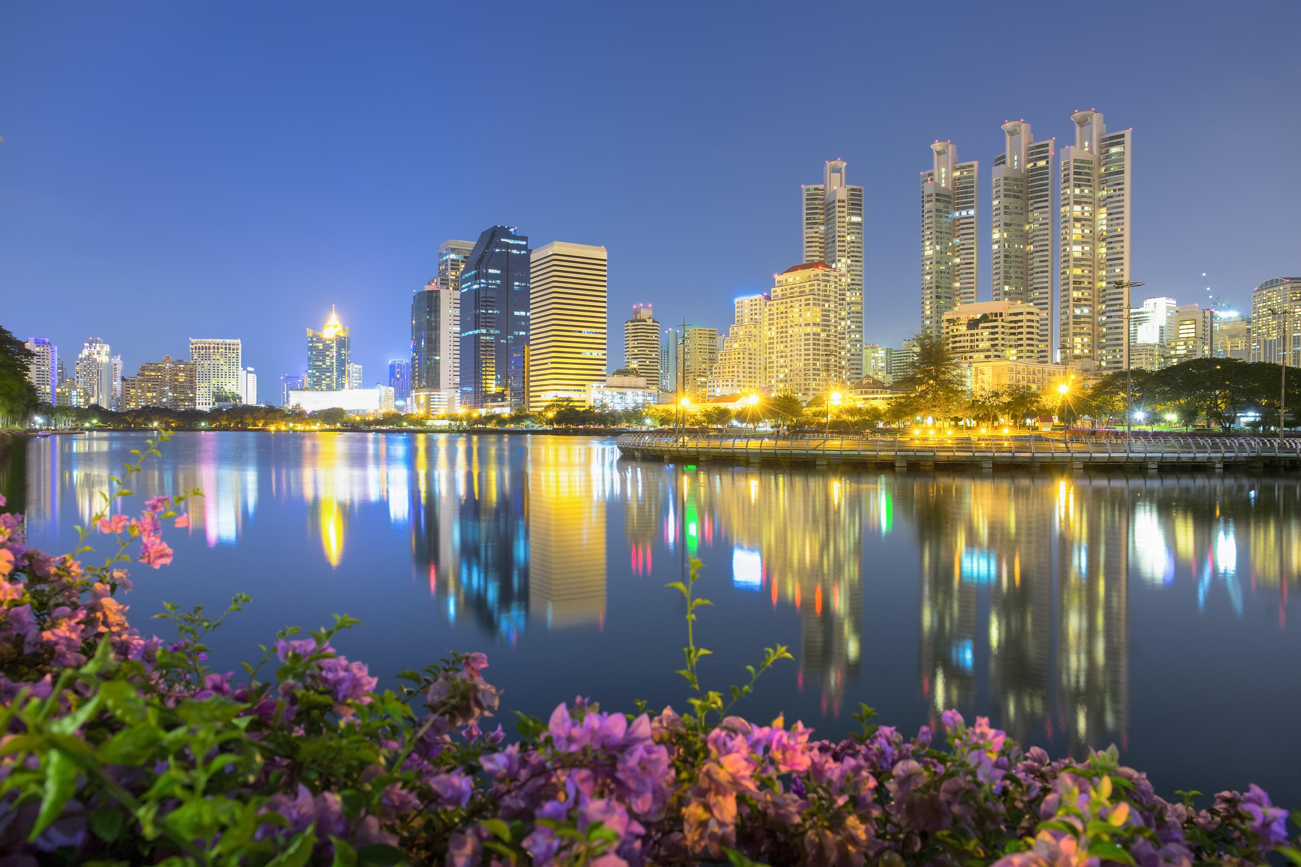 Bangkok At Night River Min
