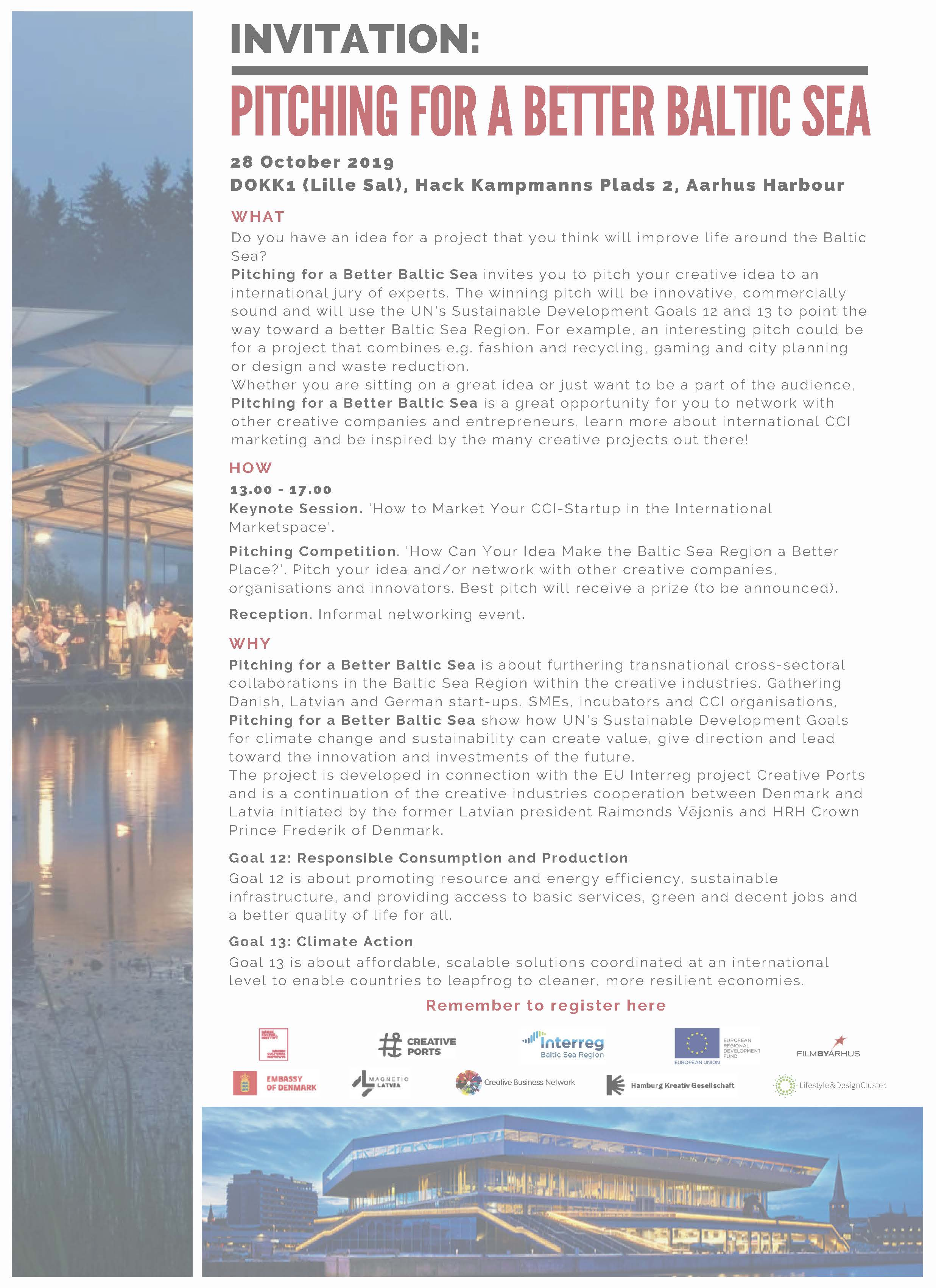 Invitation – Pitching For A Better Baltic Sea